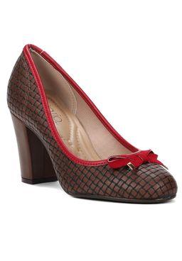Sapato-de-Salto-Feminino-Beira-Rio-Marrom-Vermelho