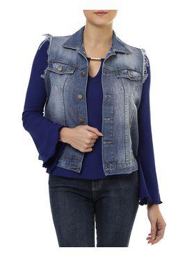 Colete-Feminino-Jeans-Azul