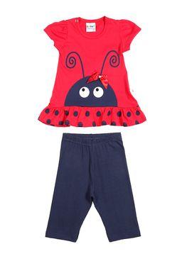 Conjunto-Infantil-para-Bebe-Menina---Vermelho-Azul-Marinho