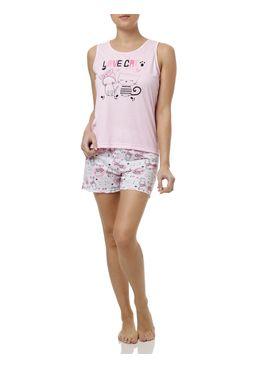 Pijama-Curto-Feminino---Rosa