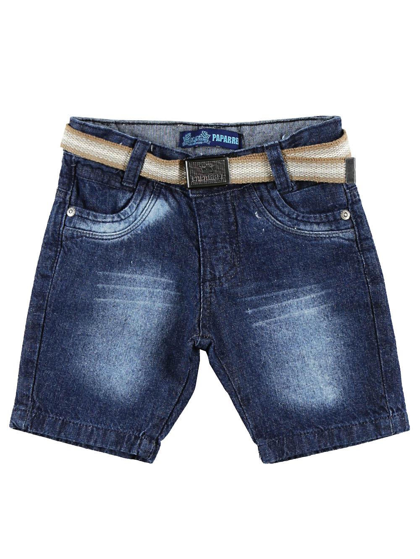Bermuda Jeans Infantil Para Menino com Cinto 1