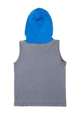 Camiseta-Regata-Infantil-Para-Menino-Dc---Cinza