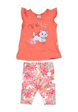 Conjunto-Infantil-para-Bebe-Menina-Disney-Baby-Laranja