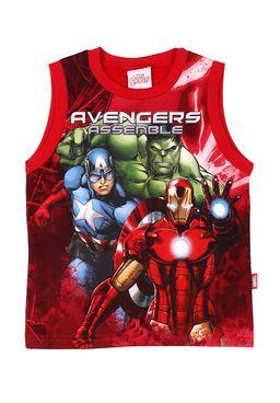 Camiseta-Regata-Infantil-Avengers-Para-Menino---Vermelho