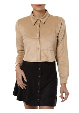 Camisa-Manga-Longa-Feminina-Autentique-Marrom
