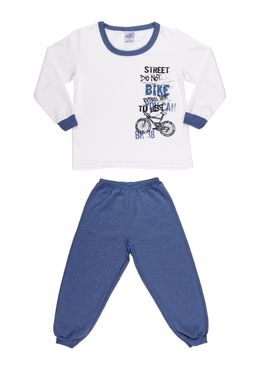 Pijama-Longo-Infantil-para-Menino---Azul-Off-White