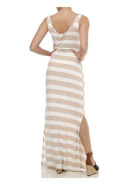 Vestido-Longo-Feminino-Listra-Branco-Bege