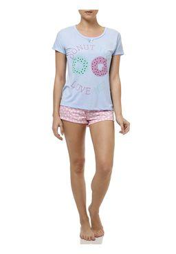 Pijama-Curto-Feminino-Azul-claro
