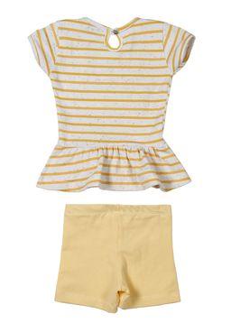 Conjunto-Infantil-Para-Bebe-Menina---Amarelo