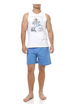 Pijama-Curto-Masculino-Branco