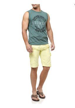 Bermuda-Jeans-Masculina-Gangster-Amarelo