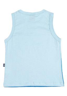 Camiseta-Regata-Infantil-Para-Menino---Azul-claro