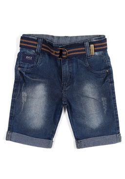 Bermuda-Jeans-com-Cinto-Infantil-Para-Menino---Azul