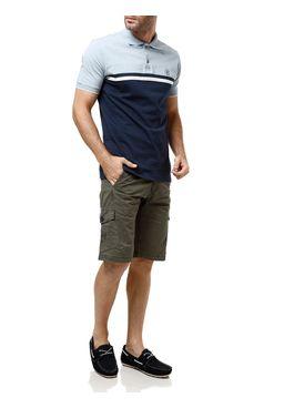 Polo-Manga-Curta-Masculina-Azul-marinho