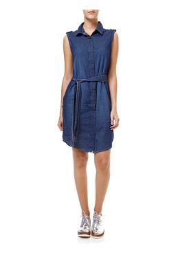 Vestido-Curto-Jeans-Feminino-Azul