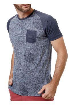 Camiseta-Manga-Curta-Masculina-Gangster-Azul