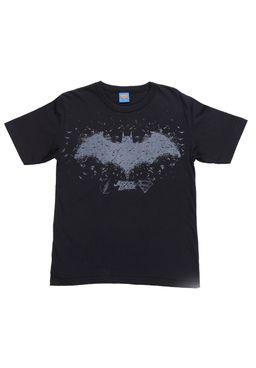 Camiseta-Manga-Curta-Justice-League-Juvenil-Para-Menino---Preto