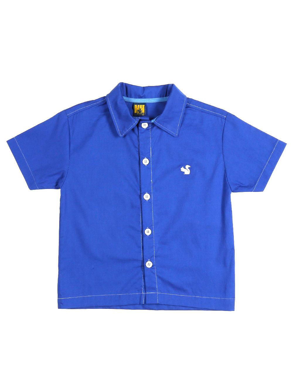 Camisa Manga Curta Infantil Para Menino - Azul 4