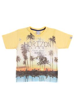 Camiseta-Manga-Curta-Infantil-Para-Menino---Amarelo