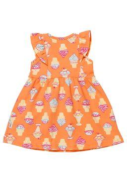 Vestido-Infantil-Para-Bebe-Menina---Laranja