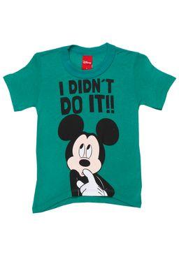 Camiseta-Manga-Curta-Infantil-Disney-Para-Menino---Verde