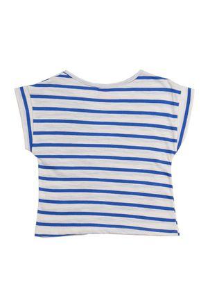 Blusa-Manga-Curta-Infantil-Para-Menina---Bege-azul
