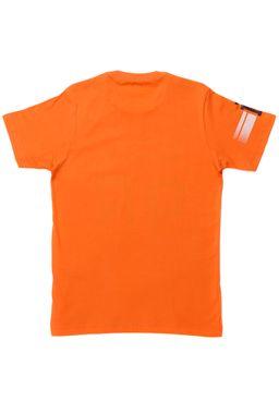 Camiseta-Gangster-Manga-Curta-Juvenil-Para-Menino---Laranja