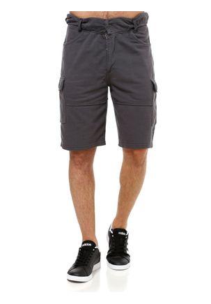 Bermuda-de-Tecido-Masculina-Cinza-escuro