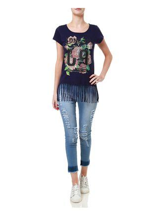 Camiseta-Manga-Curta-Feminina-Azul-marinho