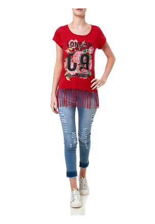 Camiseta-Manga-Curta-Feminina-Rosa