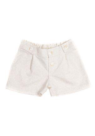 Short-Infantil-Para-Menina---Bege