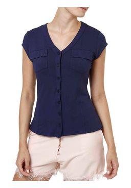 Camisa-Manga-Curta-Feminina-Azul-marinho