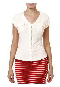 Camisa-Manga-Curta-Feminina-Off-white