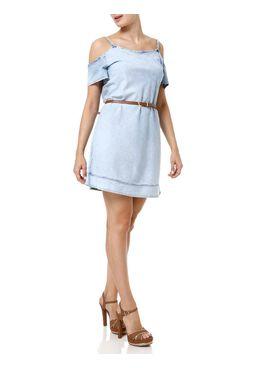 Vestido-Jeans-Curto-Feminino-Azul