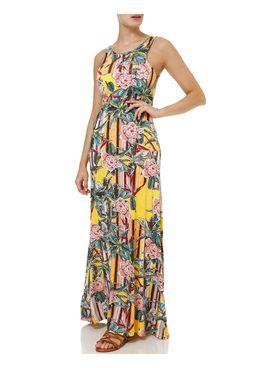 Vestido-Longo-Feminino-Amarelo