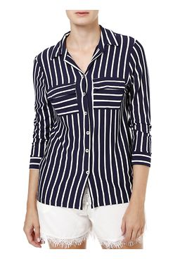 Camisa-Manga-3-4-Feminina-Azul-marinho