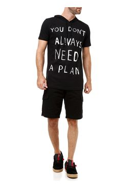 Camiseta-Manga-Curta-Masculina-com-Capuz-Preto