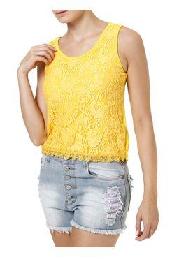 Blusa-Regata-Feminina-com-Renda-Amarelo
