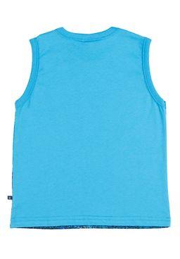 Camiseta-Regata-Infantil-Para-Menino---Azul