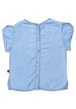 Blusa-Manga-Curta-Juvenil-Para-Menina---Azul