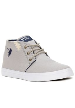 Tenis-Casual-Cano-Alto-Masculino-Polo-Shoes-Long-Canvas-Cinza