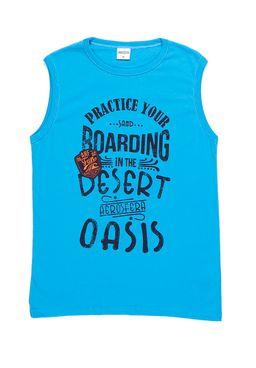 Camiseta-Regata-Juvenil-Para-Menino---Azul