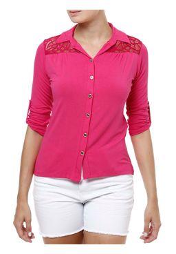 Camisa-Manga-3-4-Feminina-Rosa