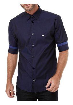 Camisas-Manga-3-4-Masculina-Azul-marinho