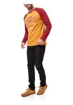 Camiseta-Manga-Longa-Masculina-Mostarda