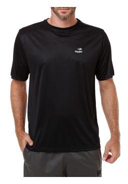 Camiseta de Futebol Masculina Topper Preto