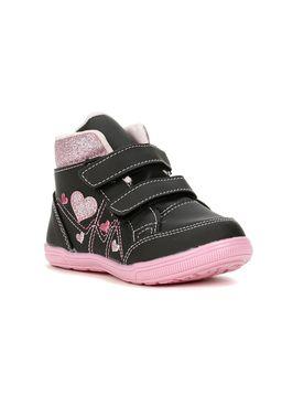 Tenis-Casual-Infantil-Para-Bebe-Menina---Preto-rosa