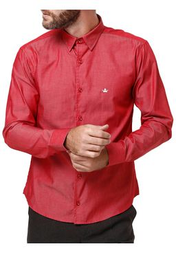 Camisa-Manga-Longa-Masculina-Vermelho