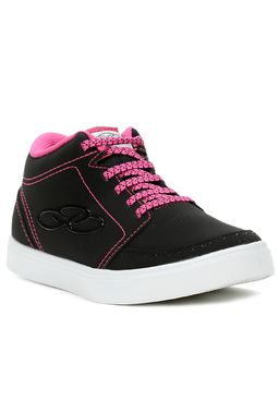 Tenis-Cano-Alto-Casual-Olympikus-Para-Menina---Preto-rosa