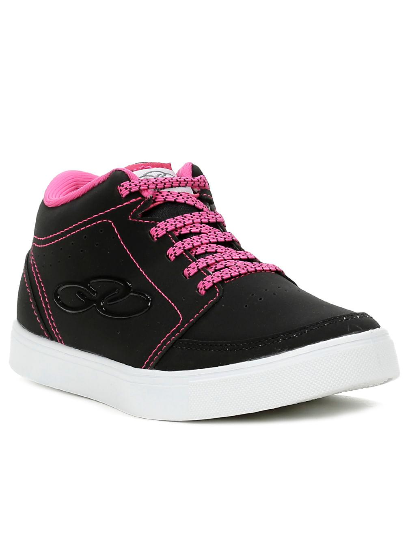 Tênis Cano Alto Casual Infantil Olympikus Para Menina - Preto / rosa Tênis Cano Alto Casual Olympikus Para Menina - Preto / rosa 30